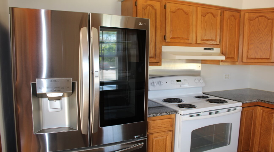 Kitchen - stove and refrigerator