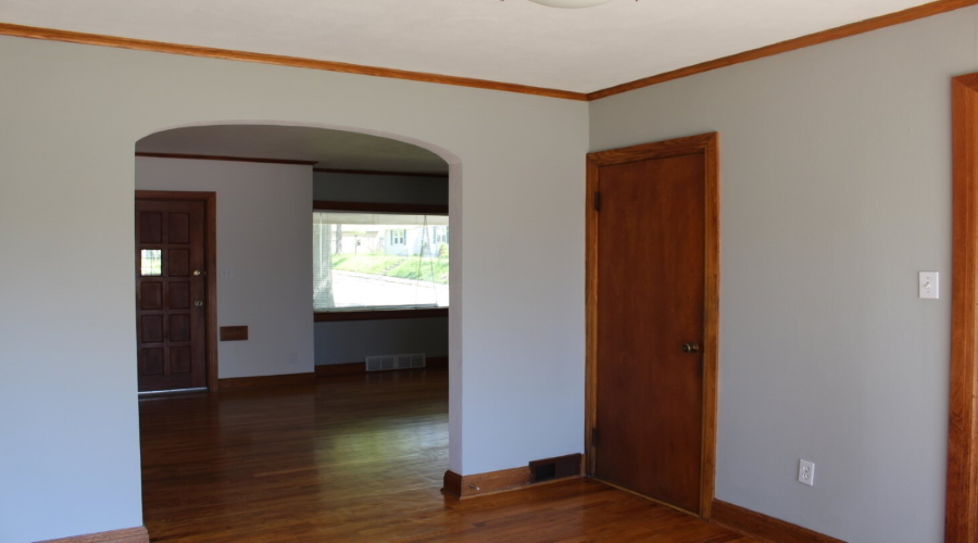Inside - arched doorway