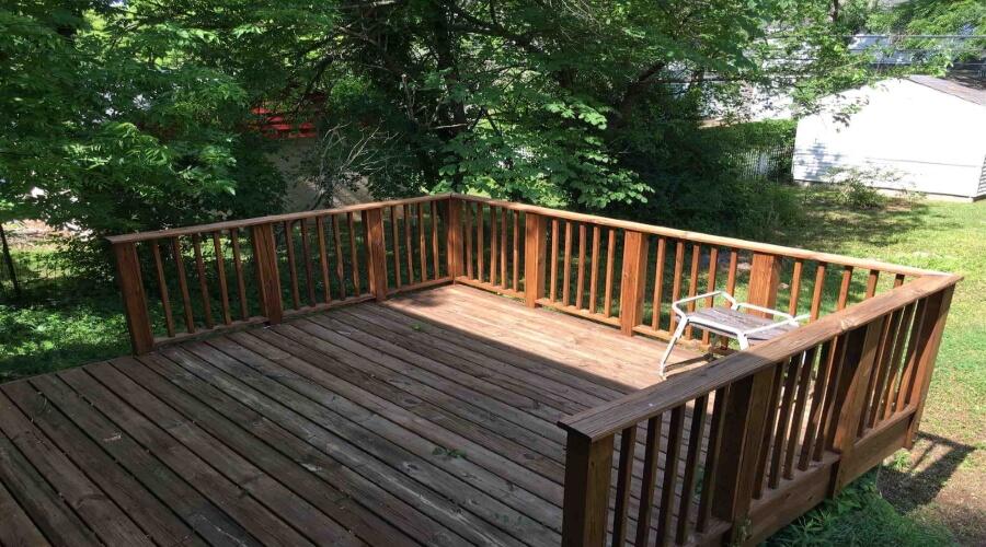 Outdoor deck of home